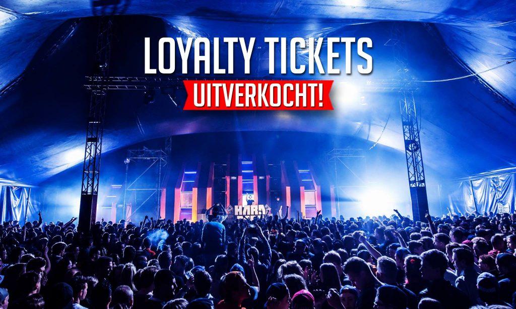 Loyalty tickets uitverkocht!