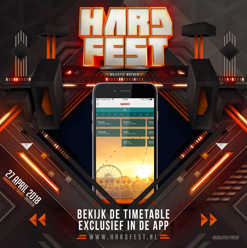 De HARDFEST APP – Bekijk de timetable, check alle info en meer..