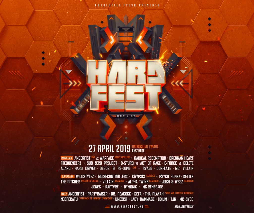 Line up & trailer HARDFEST – Orange We Are 2019