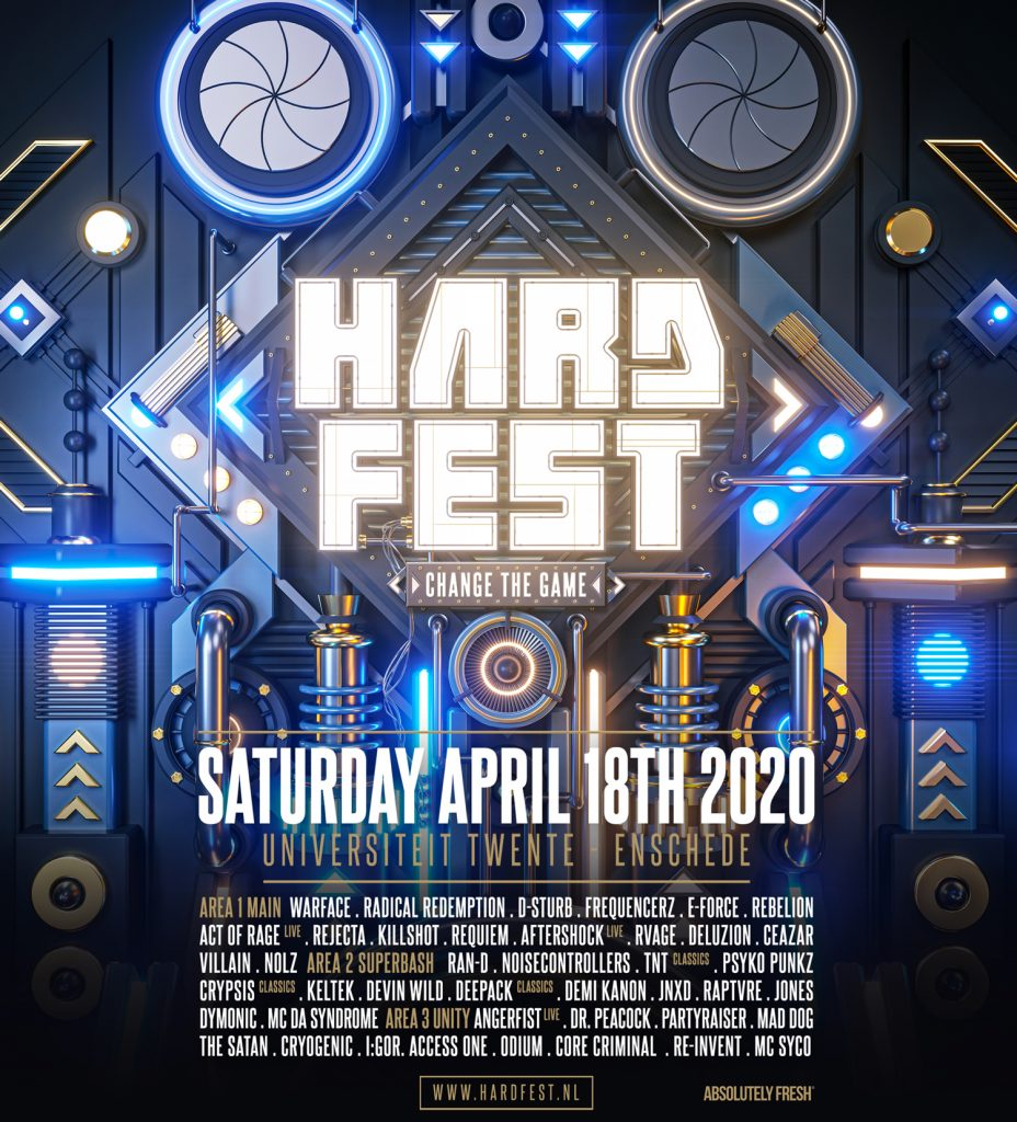Line up HARDFEST 2020 – Change the Game